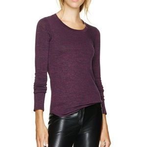 Aritzia Wilfred Free burgundy Diapason T-Shirt S